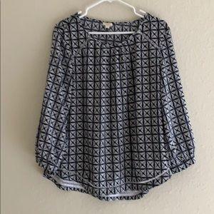JCrew size L blouse